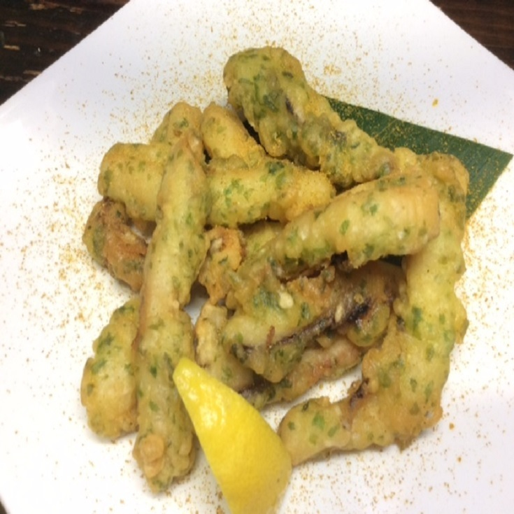 Squid fried with Isobe