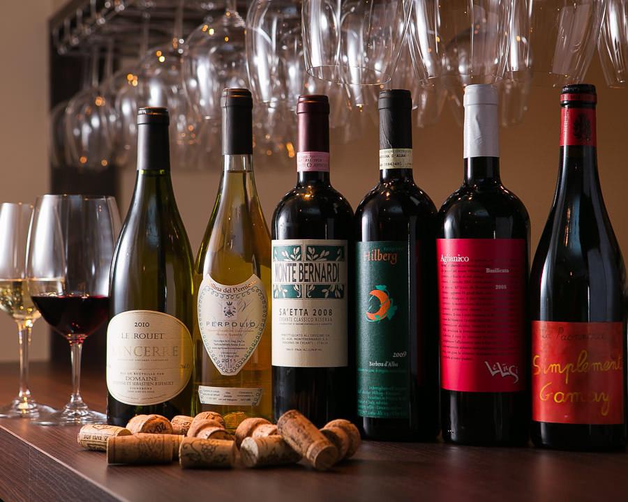 精心挑選的葡萄酒♪