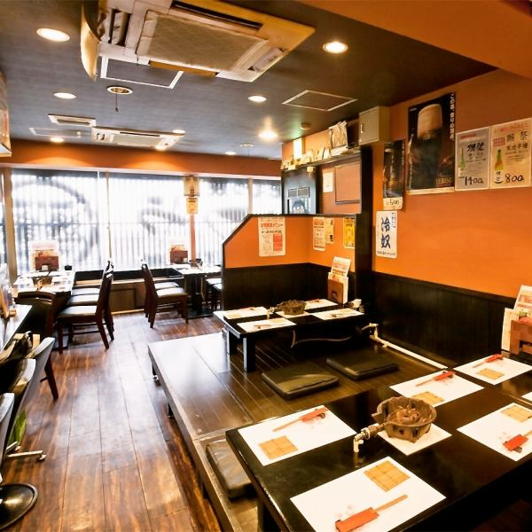 【1 minute walk from Soka station】 A modern, modern and fashionable store.As we prepare various seats such as a counter that casually stops in the shop, table seat, zashiki etc. Recommended for a banquet for 20 to 30 people from a little drink of one person.