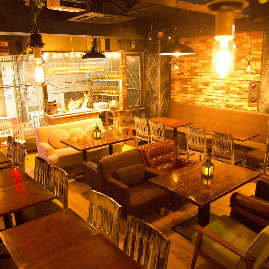【SENKAWA NEW OPEN】 Enjoy fancy smoked drinks! 3000 Yen course with drinks and unlimited drinks!