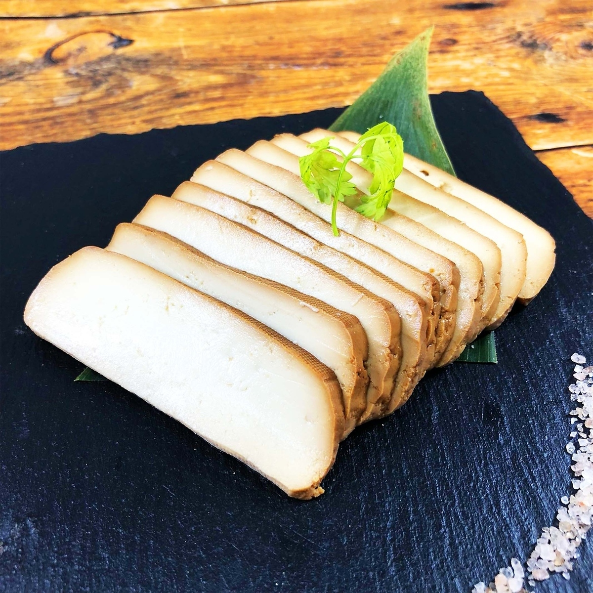 Smoked miso pickled tofu