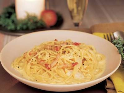 Carbonara of rich cheese