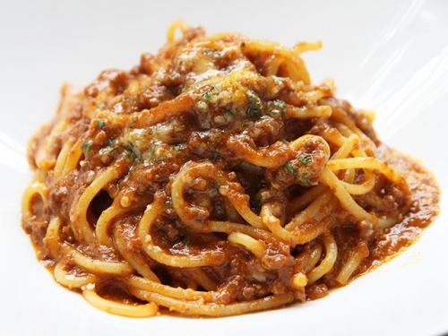 Homemade meat sauce pasta