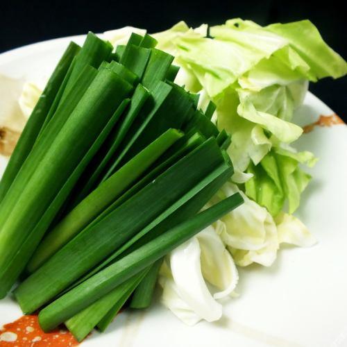 【トッピング】もつ鍋野菜