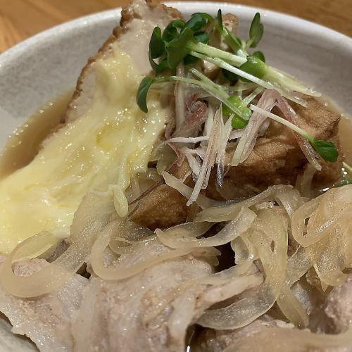 チーズ入り厚揚げ肉豆腐