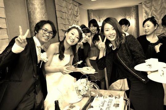 Wedding二次会のご利用で【幸せの大特典】プレゼント!!(※コース4500円飲み放題付き)