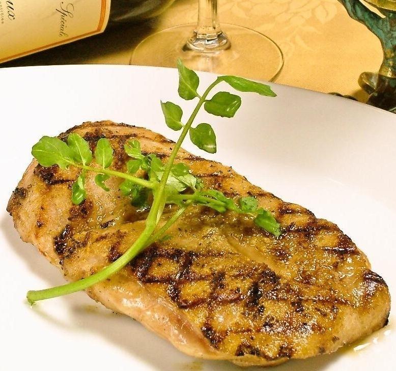Grilled chicken grilled steak