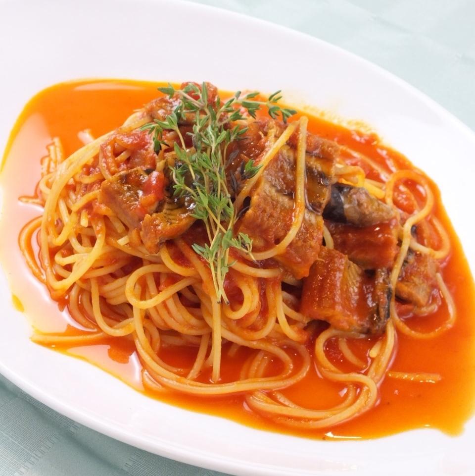 Eel tomato tailored Linguine
