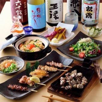 "【All-you-can-drink all-you-can-eat】 Main dish was grilled ""In standards! Yakitori gathered yakitori gathered course"""