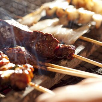 "Main dish is Grilled Baked! With Miscellaneous Supplement of the Next ""In Standard""! Yakitori gathered course to eat """