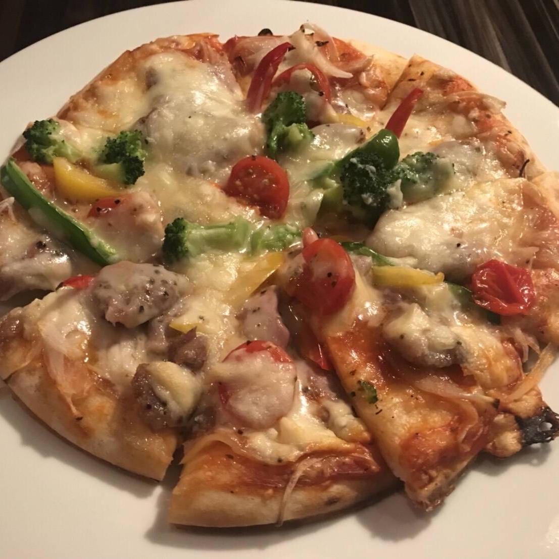 ラム肉のピザ