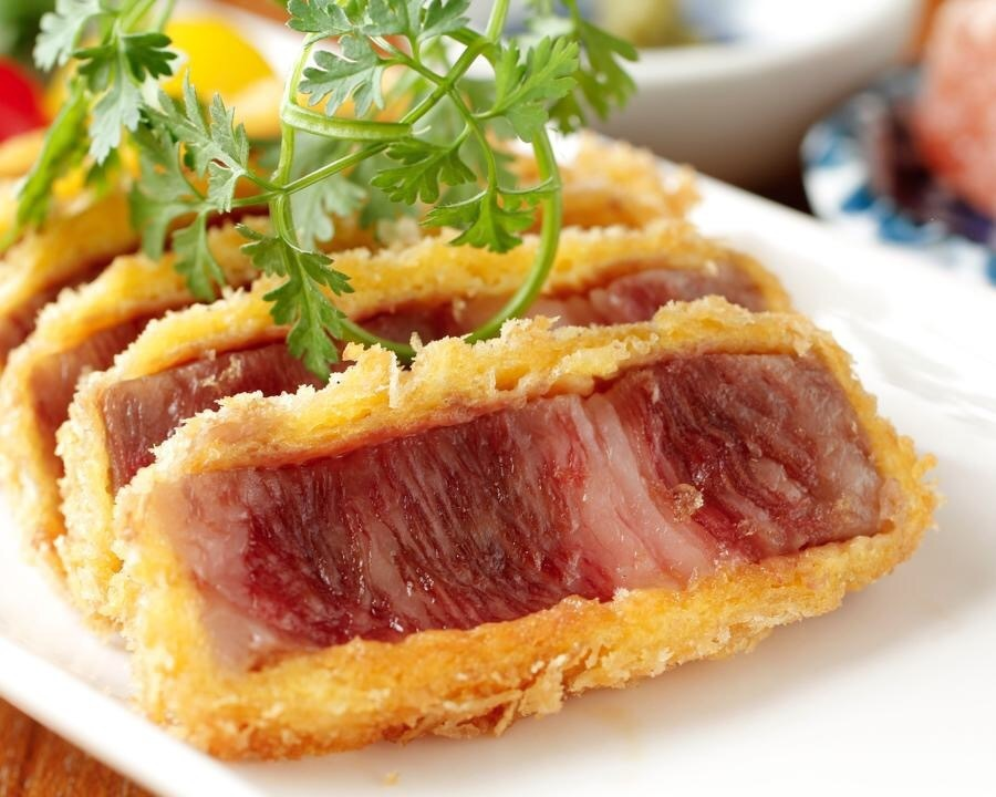 Aka beef rare cutlet