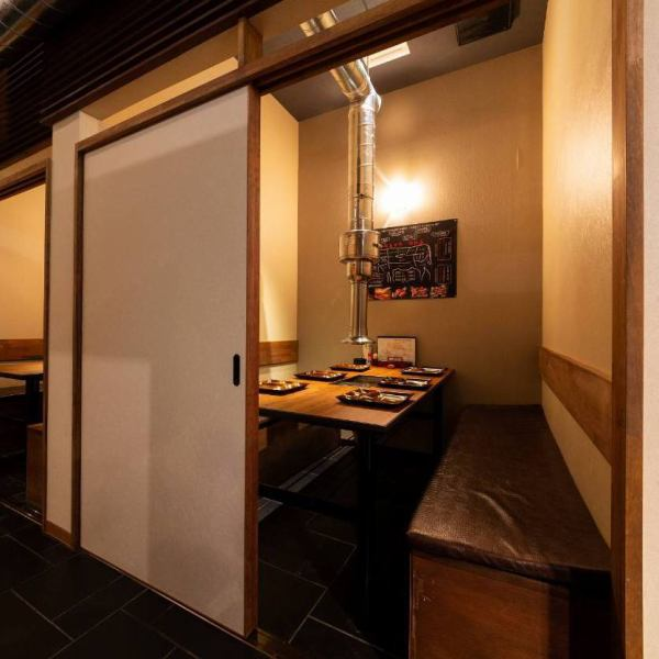 【2 people in a private room × 2 rooms / 6 people in a private room × 4 rooms / 8 people ~ 10 people × 1 room】 7 fully equipped rooms are completely relaxing, not worrying about the surroundings.Recommended for entertainment, dates, important anniversaries and more.