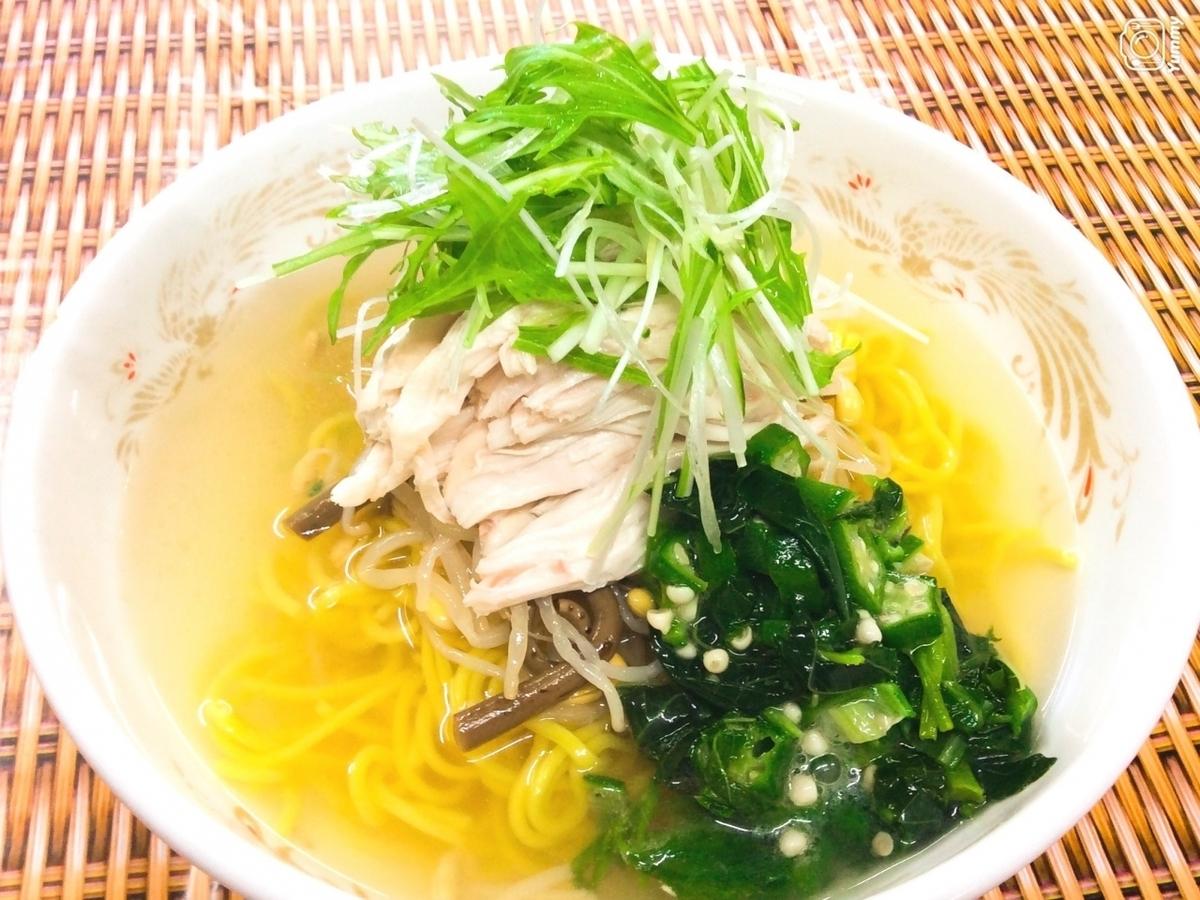 Chilled chicken soba