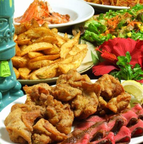 【社会人様・学生様】 ローストビーフ&サラダ&チキン&ポテト食放題 2hお料理6品飲み放題付
