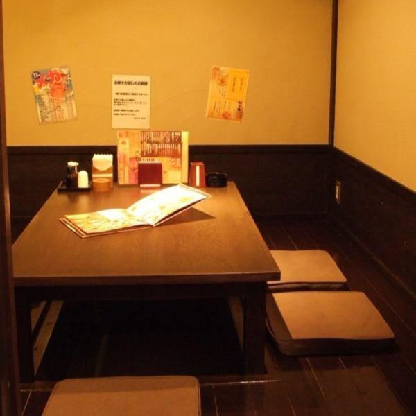 少人数の女子会にぴったり☆掘りごたつ席で足元ゆったり楽々♪個室は2名用からご用意いたします。