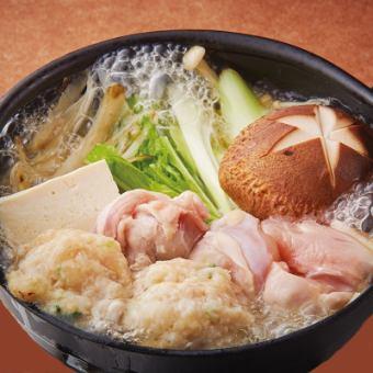 鶏塩ちゃんこ鍋 (1人前760円)・(2人前1520円)