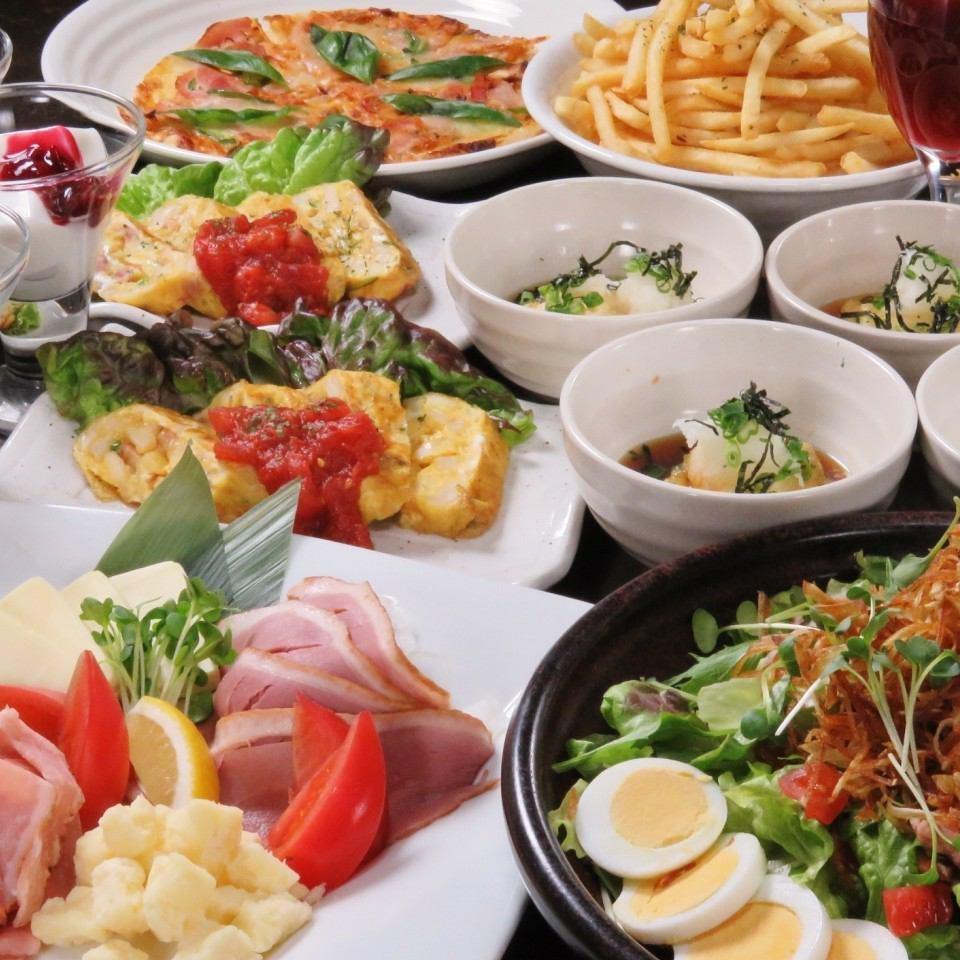 大人気の食べ放題は全部のメニューが食べられる!デザートまで◎