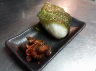Rice ball ... was the stiffness / plum / bonito / bonito Mayo / roe / roe Mayo / changer