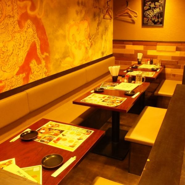 You can enjoy the table seats slowly with a crowd at a party or making ♪