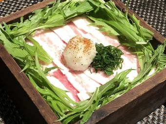 豚バラと野菜セイロ蒸し