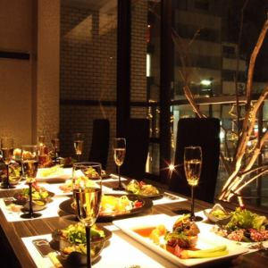 We will provide you with the highest hospitality in a completely private room.