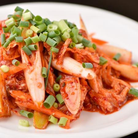 Stir-fried steel plate pig kimchi