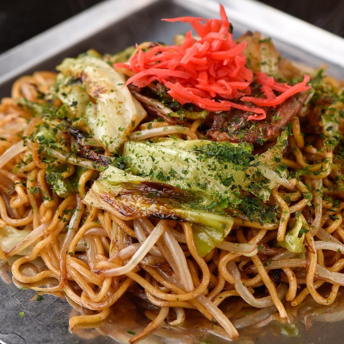 Meat-fried noodles
