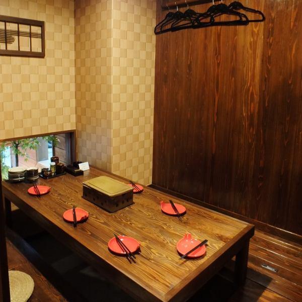 4名様~6名様程でもご利用出来る完全個室もあるので、大切な方のおもてなしや、仕事帰りの飲み会にも◎