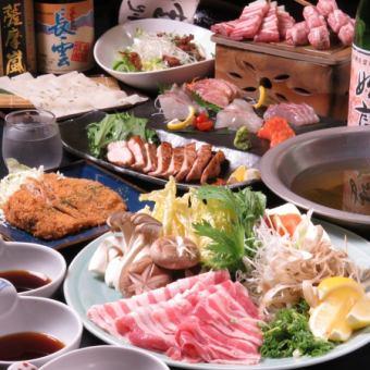 風豚しゃぶしゃぶコース(全9品)+飲放(2H)6,000円※2日前までに要予約