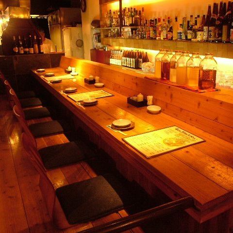 People bar counter is also a fan Popular !! sake is certainly also recommended ☆ couple to this counter ♪