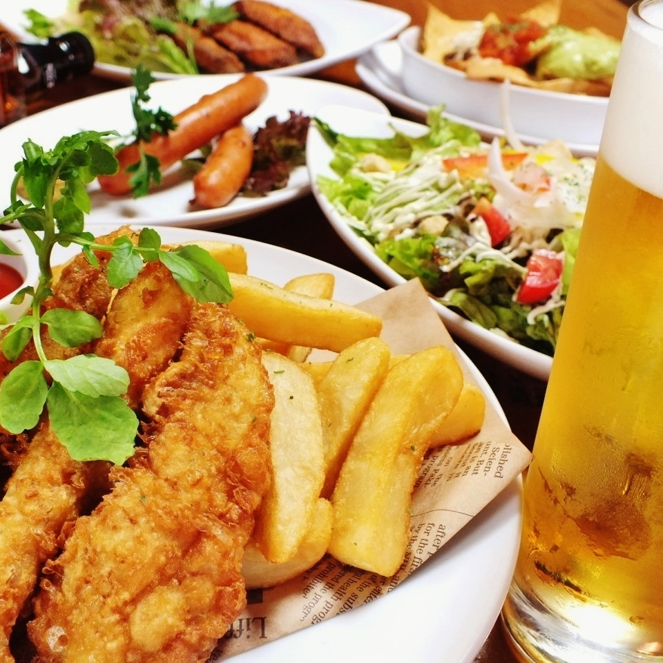 3 hours All-you-can-drink cuisine 6 items course 3000 yen (tax excluded)