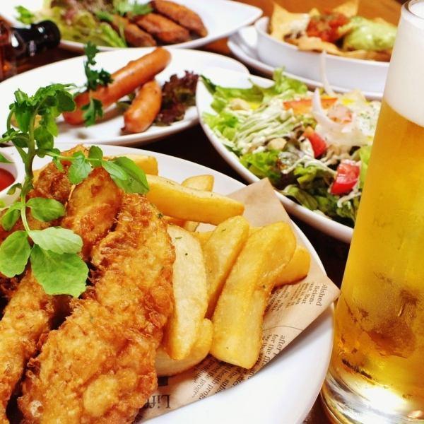【ハッピーリフィーコース】3時間飲み放題+料理5品コース2500円(税抜)
