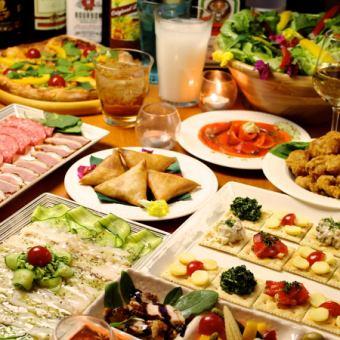 【新年会Aプラン】1月の貸切宴会コース!飲み放題2時間+お料理7品 → 3500円