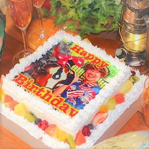 サプライズ写真ケーキ♪※写真は2段