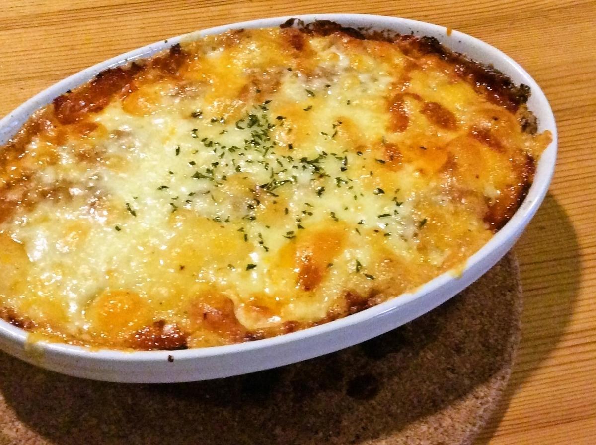 蘑菇和蝦番茄奶油多麗亞或焗烤