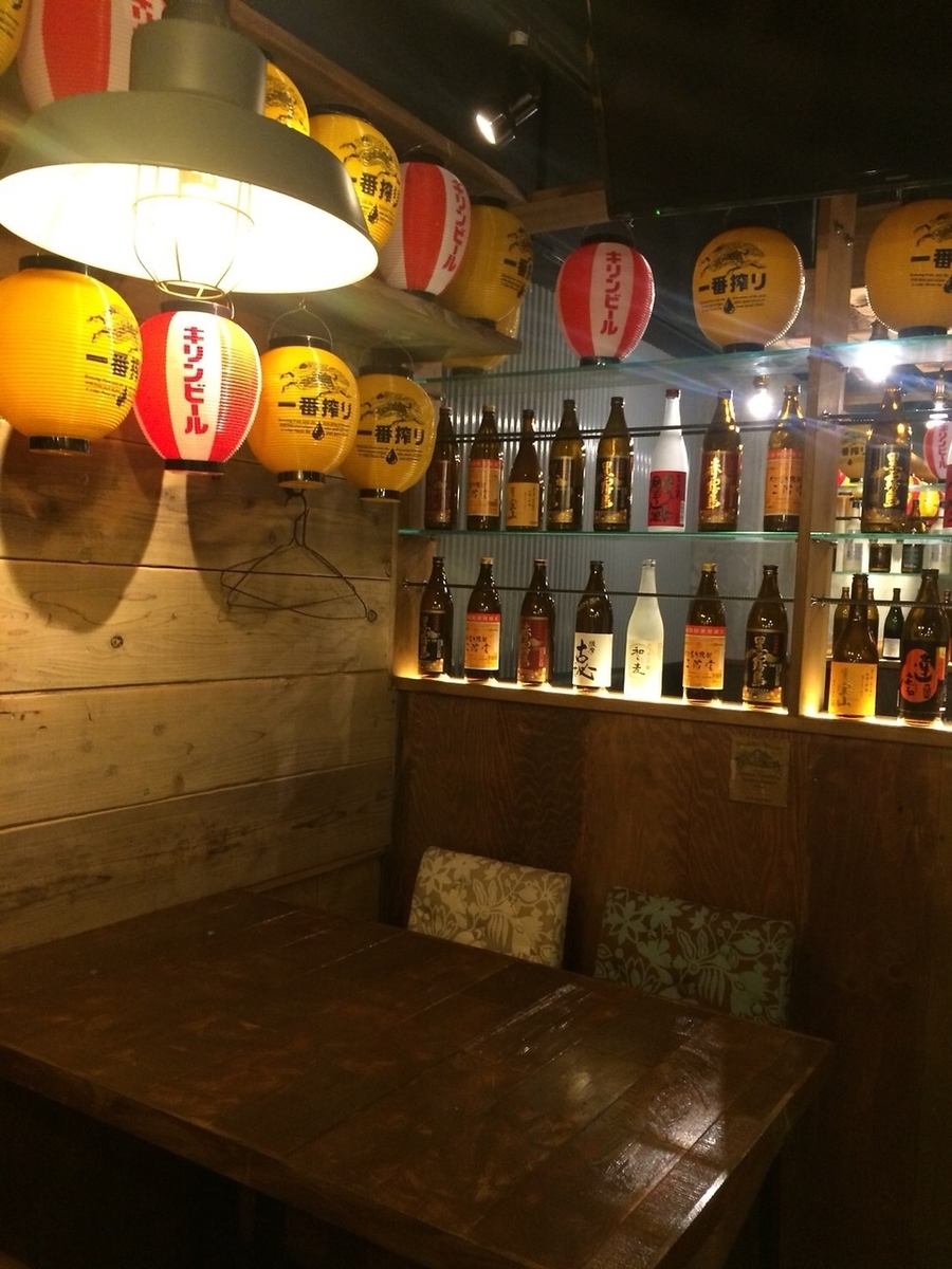 桌座是一个时尚的空间与葡萄酒线♪
