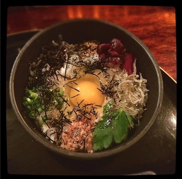 Egg rice dumplings / rice set