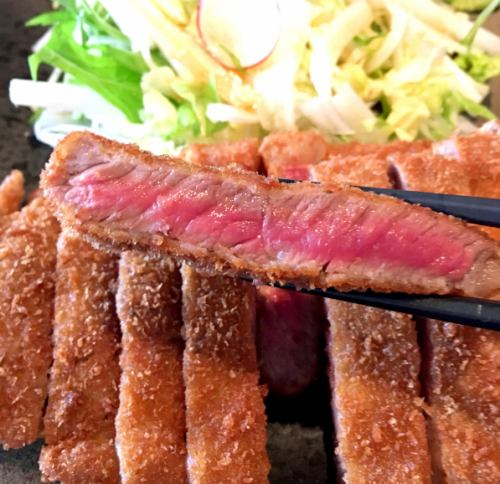 Cow and Miyaita to eat with wasabi sauce