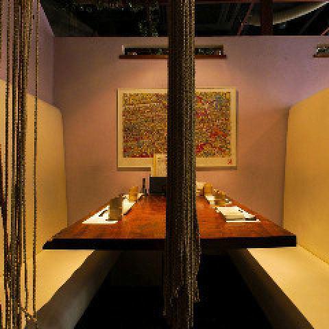 人気の半個室を完備◆