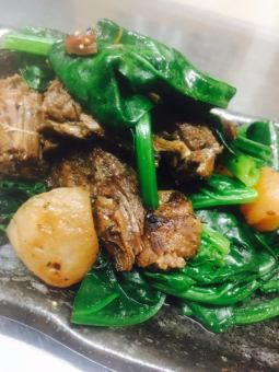 Beef tender spinach