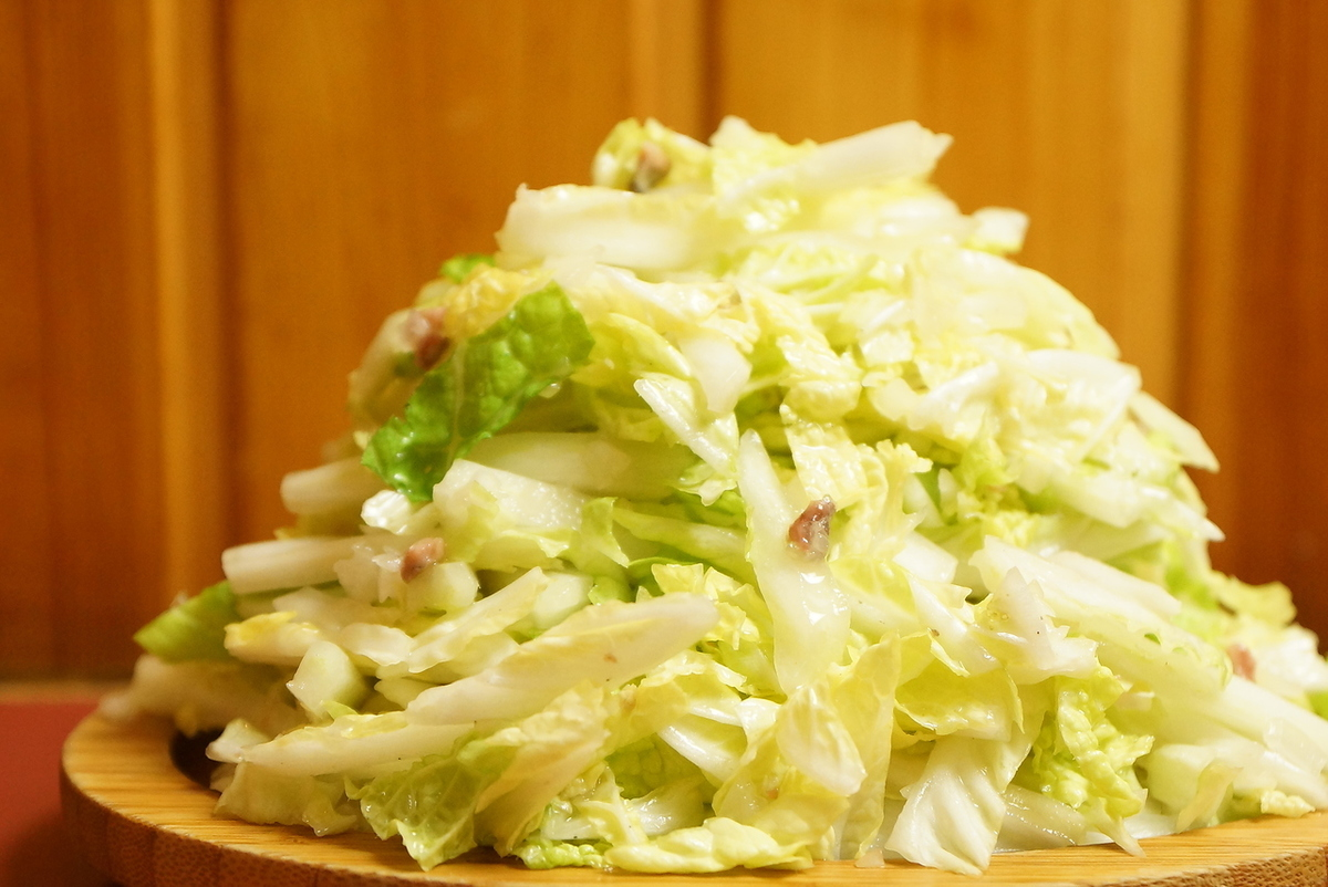 Waste of Chinese cabbage