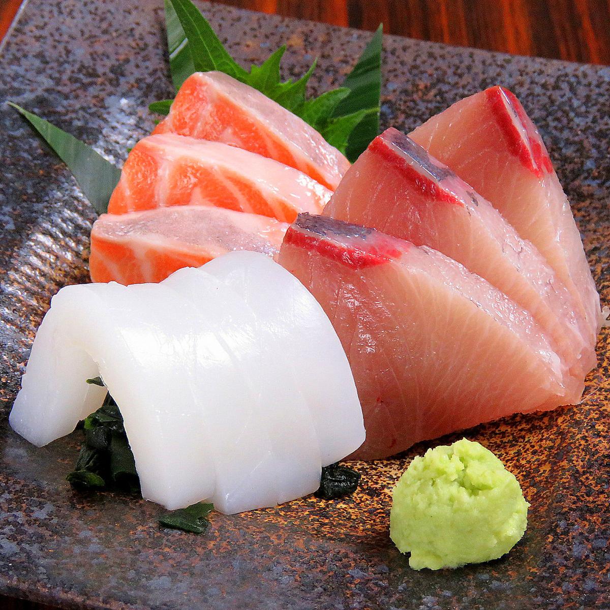 【生魚片】3種生魚片