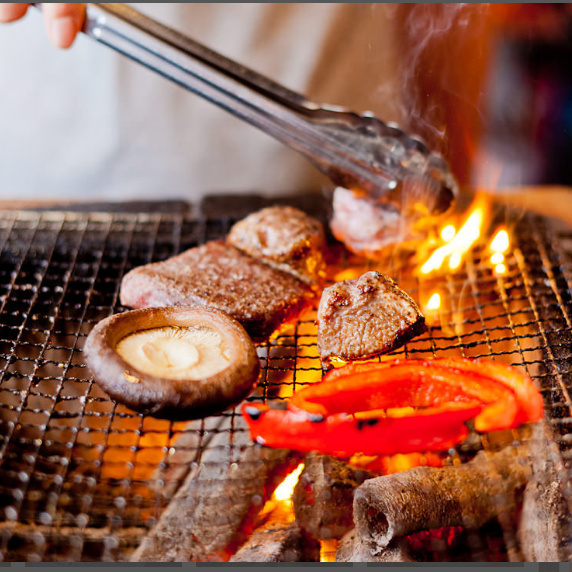 【Charcoal grilling】 Plenty of umami and fragrance are excellent items