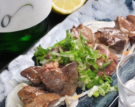 大山鶏白レバのレア焼き