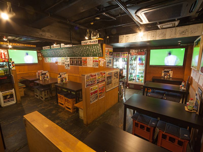 We have three large TV monitors suitable for watching sports. Baseball, soccer, Japan national team fight will be all in one store inside. Even returning from work, we will casually come with colleagues and boss, we will respond to various banquets such as girls' association, gyugong, alumni association and so on 24 hours a day, seven days a week. For reservation information, please feel free to contact us.