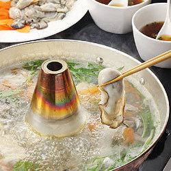 【All-you-can-eat raw oyster shabu-shabu pan】 + 【5 cuisine included】 February limited plan! 3,000 yen now!
