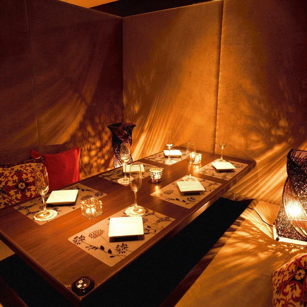 【新开业】日本现代旅馆私人房间◆所有座位私人房间⇒2人〜◆2小时饮料所有课程2980日元〜◎