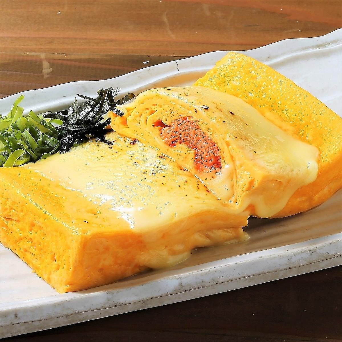 Mentaiko奶酪或包裹的鸡蛋