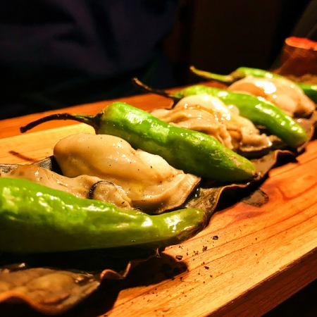 Grilled kelp of Hiroshima oysters
